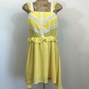 Lucca Couture Ruffle Gingham Sun Dress Sz M